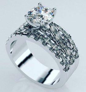 diamond and white gold bridal set perth
